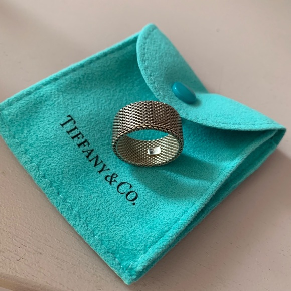 Tiffany & Co. Jewelry - Tiffany sterling silver fine mesh wide ring